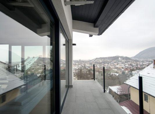 Balustrada balcon sticla