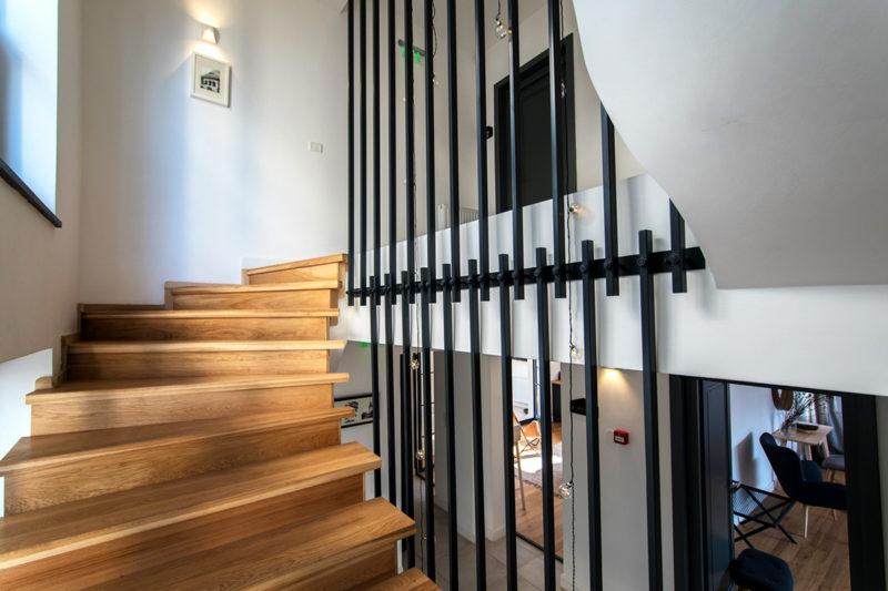 Balustrada scara interioara metal
